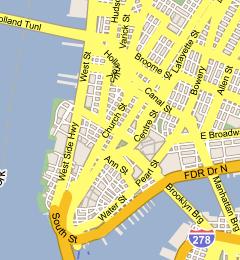 Mapa New Yorka