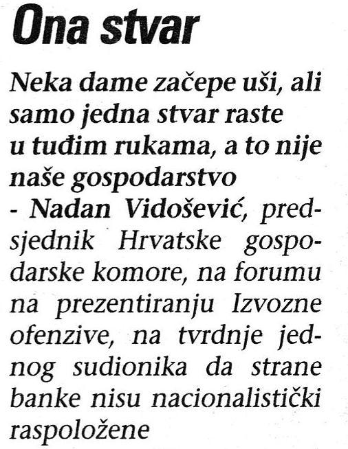Nadan Vidošević o hrvatskoj izvoznoj inicijativi