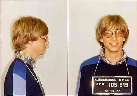 Bill Gates, mugshot