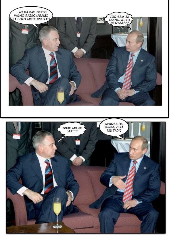 Sanader Putin meeting na hodniku