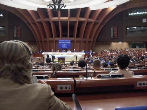 Hemicycle dvorana Vijaća Europe u zasjedanju